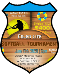 June 13th Softball Tournament Co-ed Lite 10v10 - June 13th Softball Tournament Co-ed Lite 10v10 - Lower 2