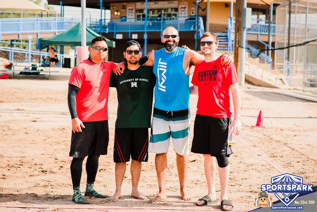 Nov 23rd Thanksgiving Volleyball Tournament Men's 4v4 - A/B, Team: Maximum Effort