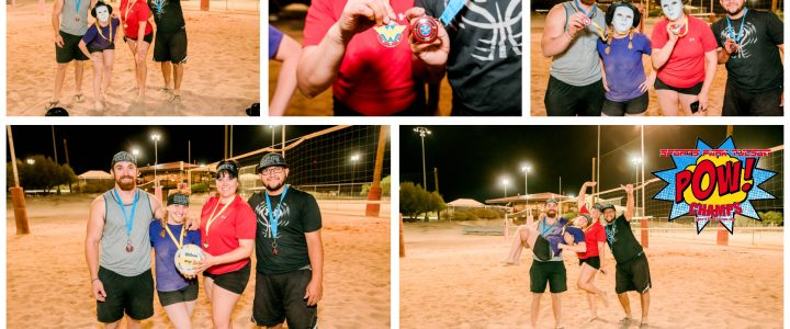 Superhero All-Nighter 4v4 Sand Volleyball Champs!
