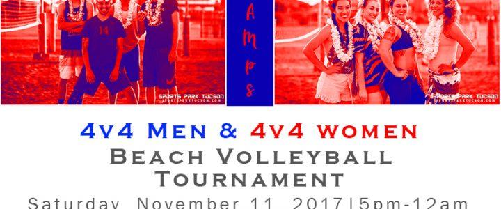 Nov 11th 4v4 Sand Volleyball Tournament – 5PM