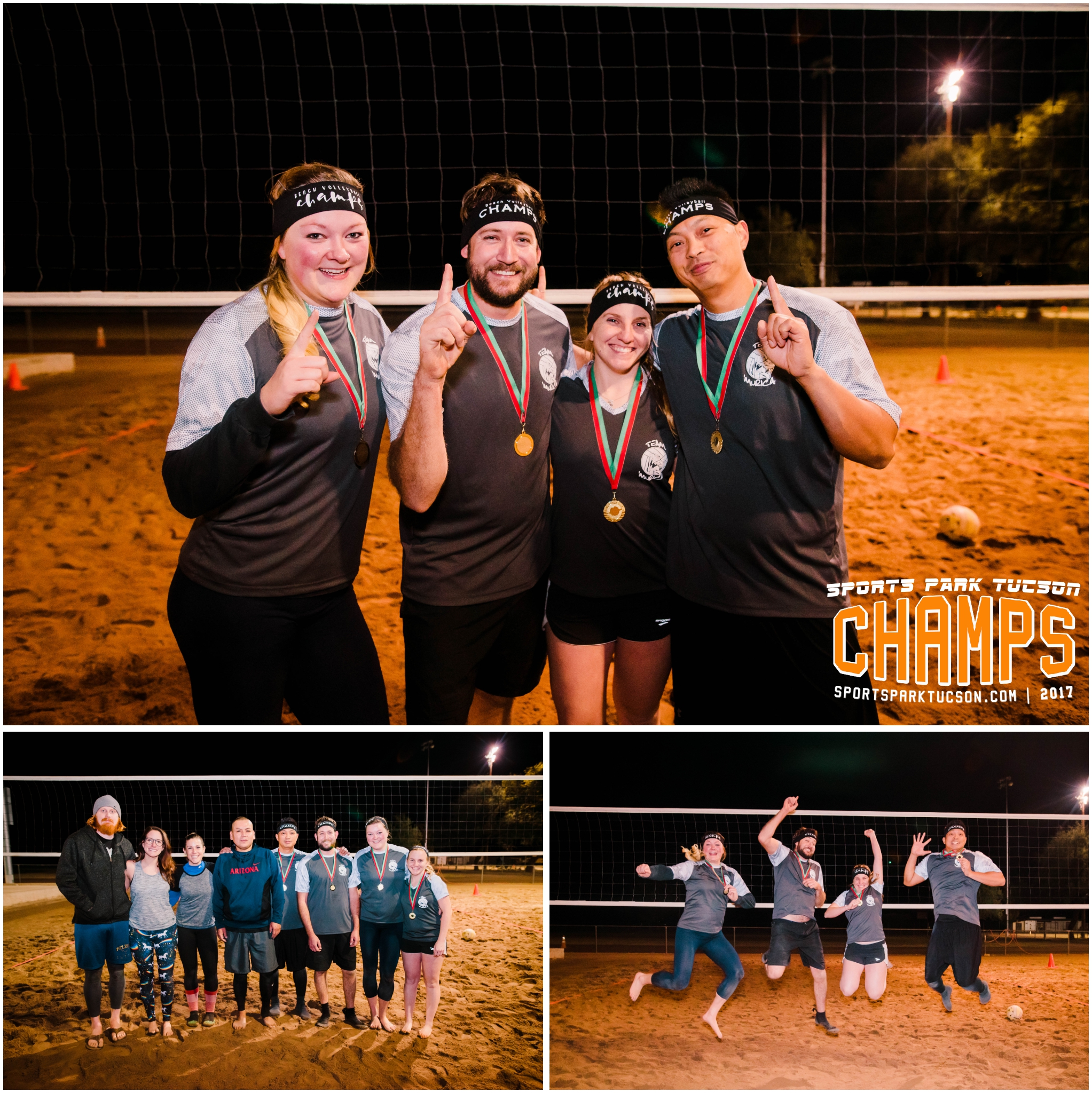 Volleyball Mon Co-ed 4 v 4 - Gold Champions