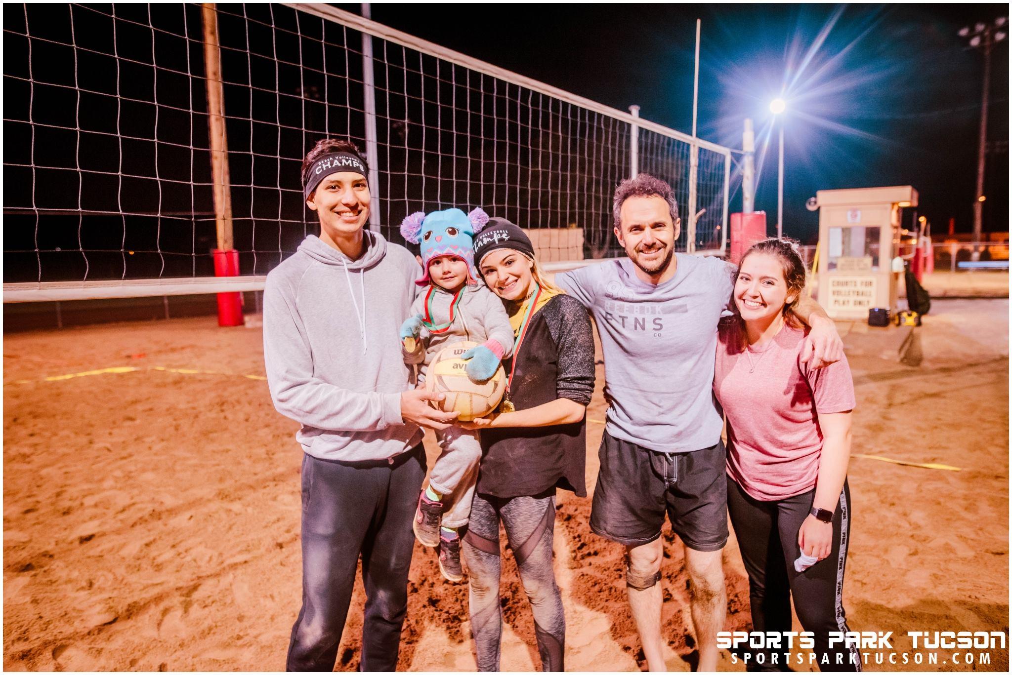 Volleyball Sun Co-ed 2 v 2 - Mix Champions