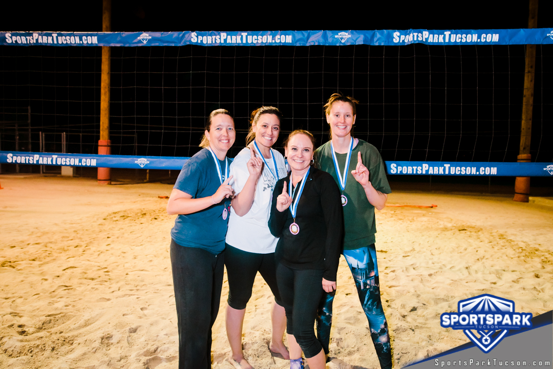 Volleyball Tue Women's 4v4- A/B Champions