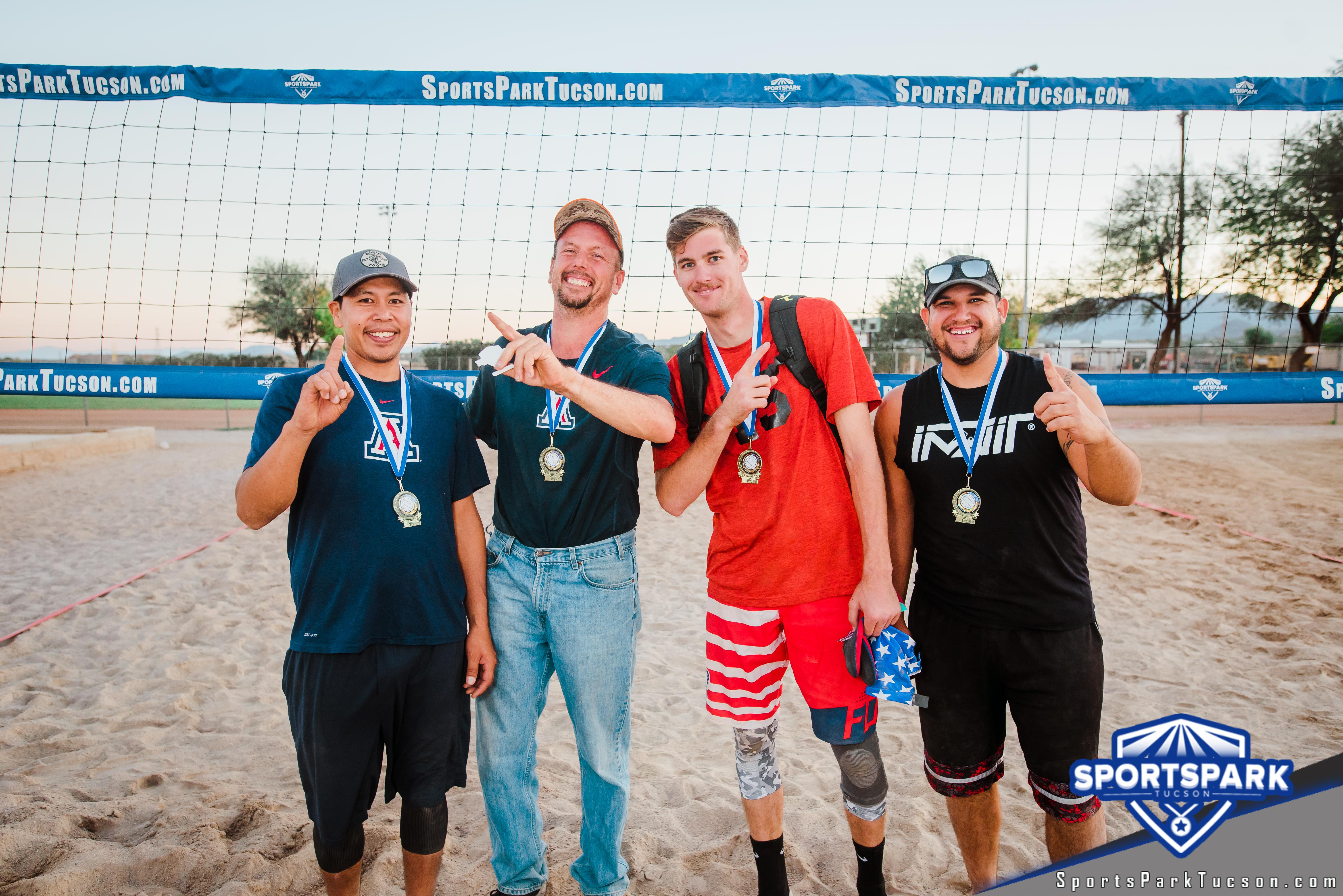 Nov 10th RWB Volleyball Tournament Men's 4v4 - A/B Champions