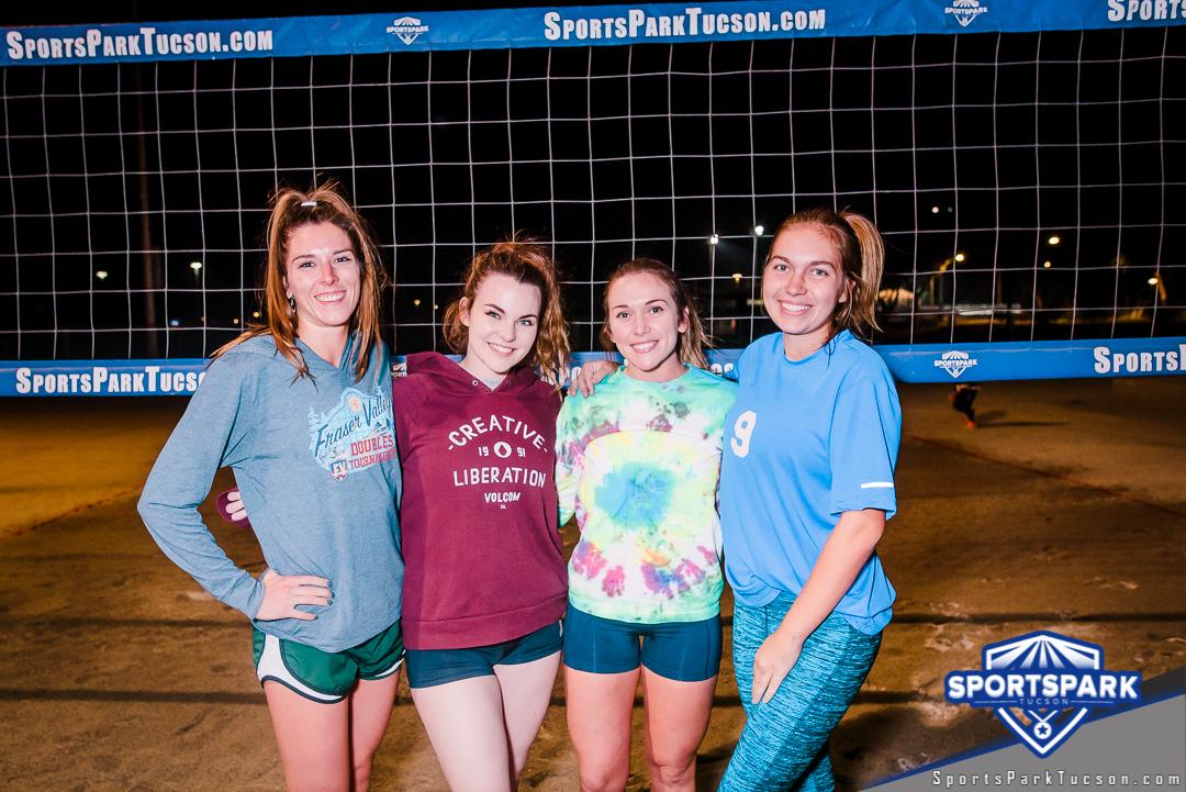 Volleyball Tue Women's 4v4 - A/B, Team: Fourgasum