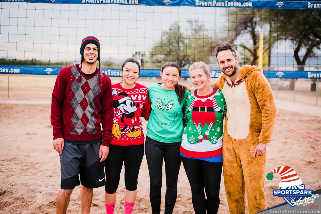 Dec 15th Ugly Sweater Volleyball Tournament Co-ed 4v4 - B , Team: Dashing Through the Sand