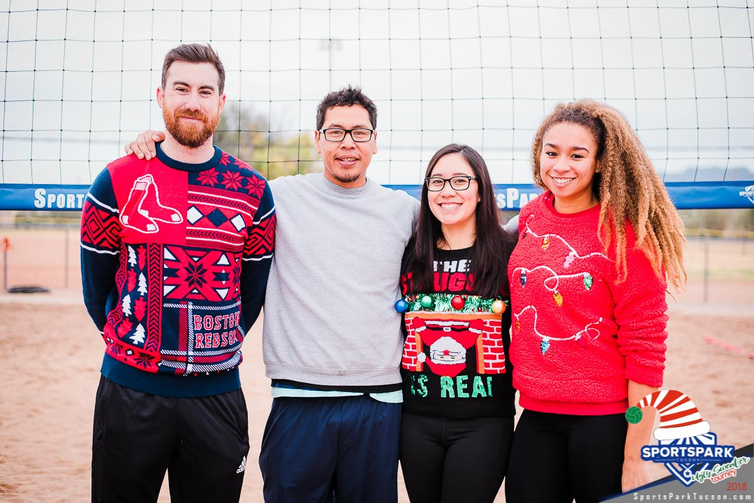 Dec 15th Ugly Sweater Volleyball Tournament Co-ed 4v4 - A/B , Team: Rocket Power