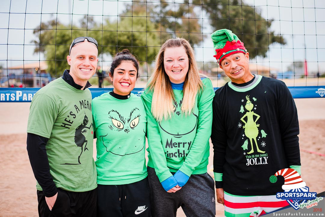 Dec 15th Ugly Sweater Volleyball Tournament Co-ed 4v4 - B , Team: Live Free Be Grinches