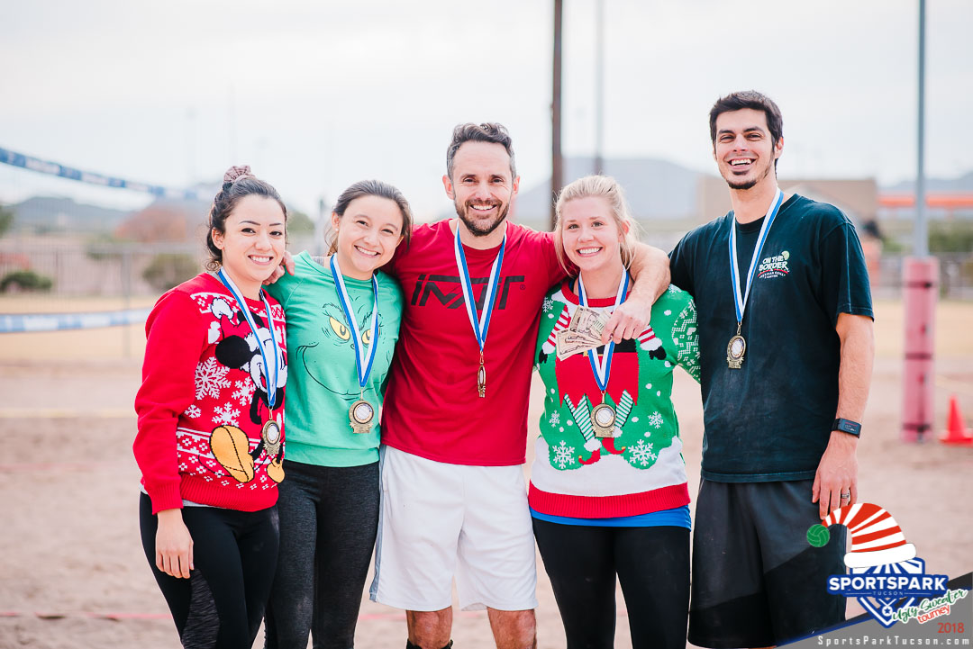 Dec 15th Ugly Sweater Volleyball Tournament Co-ed 4v4 - B  Champions