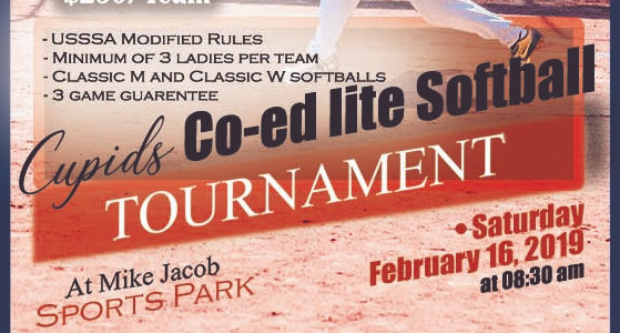 Cupids Coed Lite Softball Tournament Info