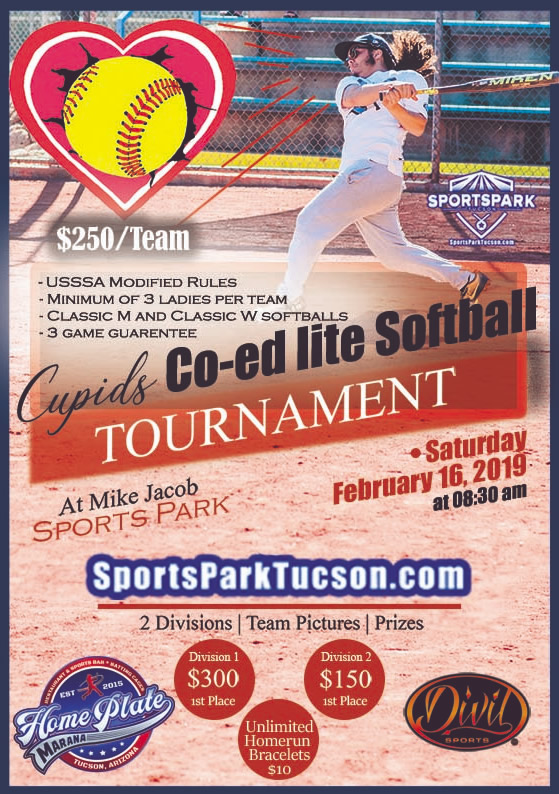 Feb 16th Cupid's Softball Tournament Co-ed Lite 10v10 - Upper