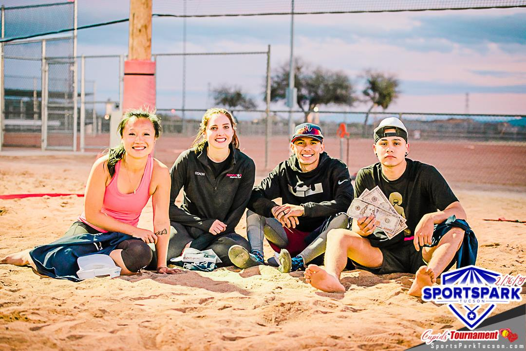 Feb 16th Cupid's Volleyball Tournament Co-ed 4v4 - A/B  Champions