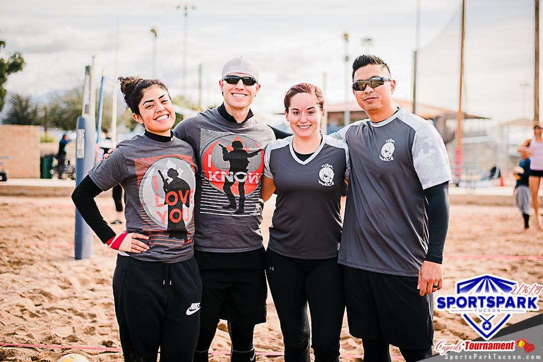 Feb 16th Cupid's Volleyball Tournament Co-ed 4v4 - A/B , Team: Cupid's Balls Out
