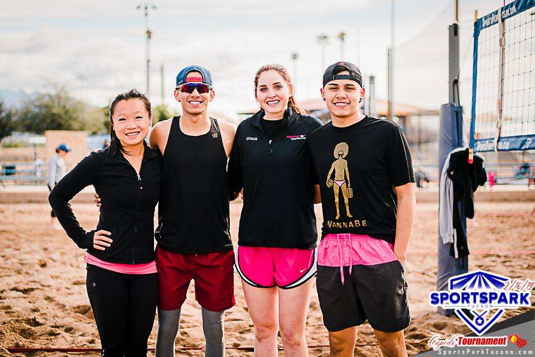 Feb 16th Cupid's Volleyball Tournament Co-ed 4v4 - A/B , Team: Ex oh Ex oh ❤️
