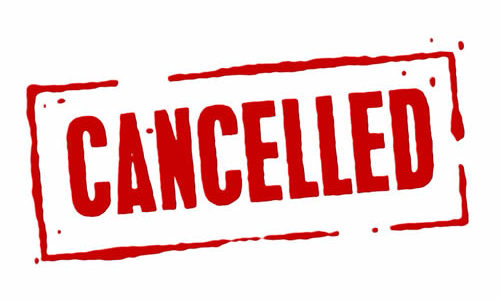 Games Cancelled Monday, Sep 16, 2019