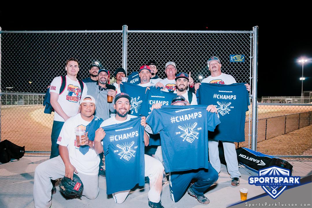 Softball Fri Men's 10v10 - E, Team: Pass Da Booze
