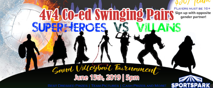 Jun 15th Volleyball Tournament Swinging Pairs 4v4 – A/B