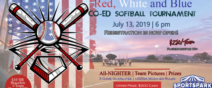 July 13th All-Nighter Softball Tournament Co-ed 10v10