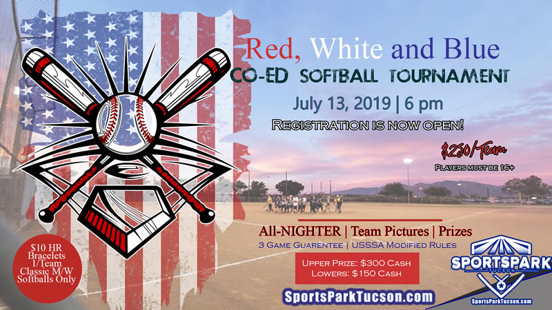 July 13th Red, White, and Blue Coed Softball Tournament
