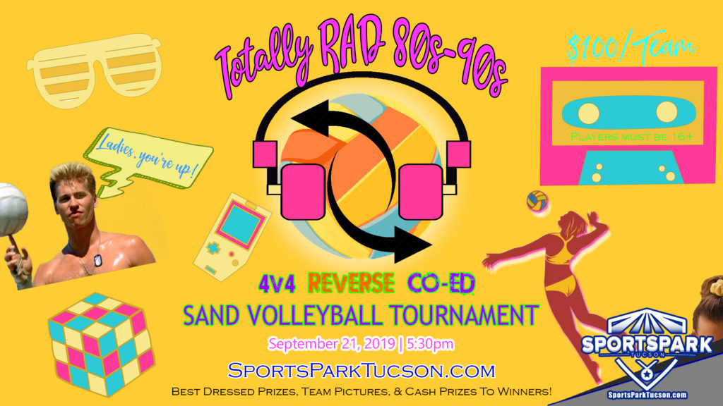 Sept 21 Totally RAD Reverse Co-ed Volleyball Tournament  4v4 - A/B