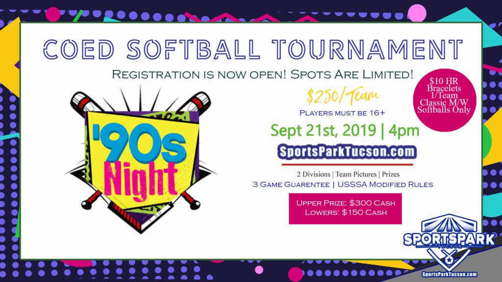 Sept 21st Softball Tournament Co-ed 10v10