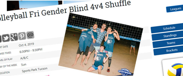 Volleyball Fri Gender Blind 4v4 Shuffle