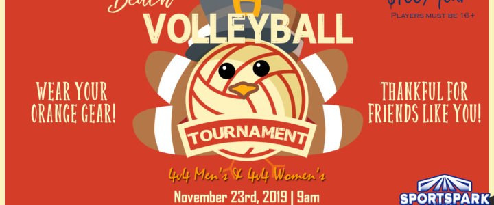 Nov 23rd Thanksgiving Volleyball Tournament 4v4