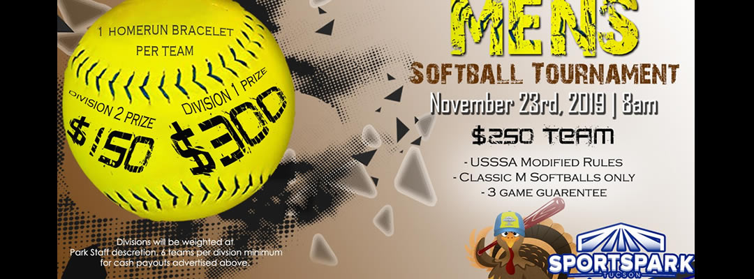 Nov 23rd Softball Tournament Men's 10v10