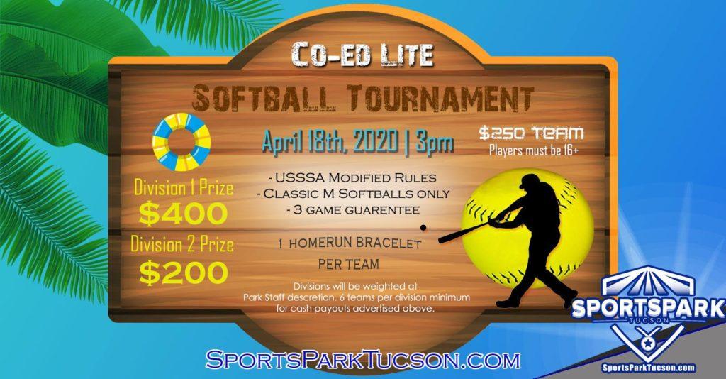 Apr 18th Softball Tournament Co-ed Lite 10v10