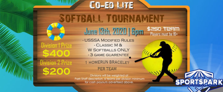 Co-ed Lite Softball Tourament is here