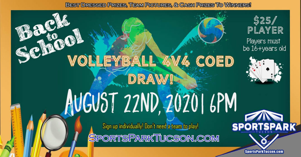 Aug 22nd Volleyball Tournament Co-ed 4v4 Draw