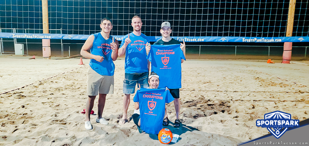Aug 22nd Volleyball Tournament Co-ed 4v4 Draw Champions