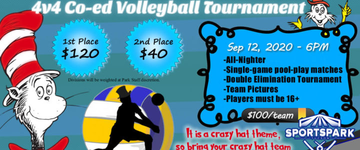 Sep 12th Sand Volleyball Tournament Co-ed 4v4