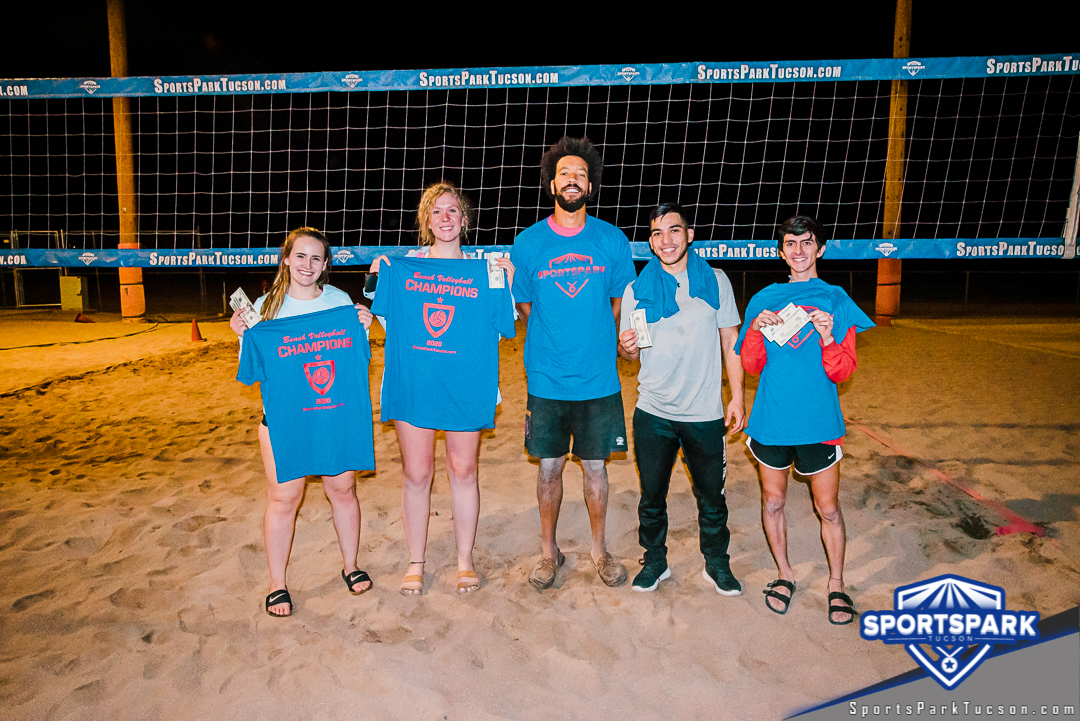 Sep 12th Sand Volleyball Tournament Co-ed 4v4 Champions