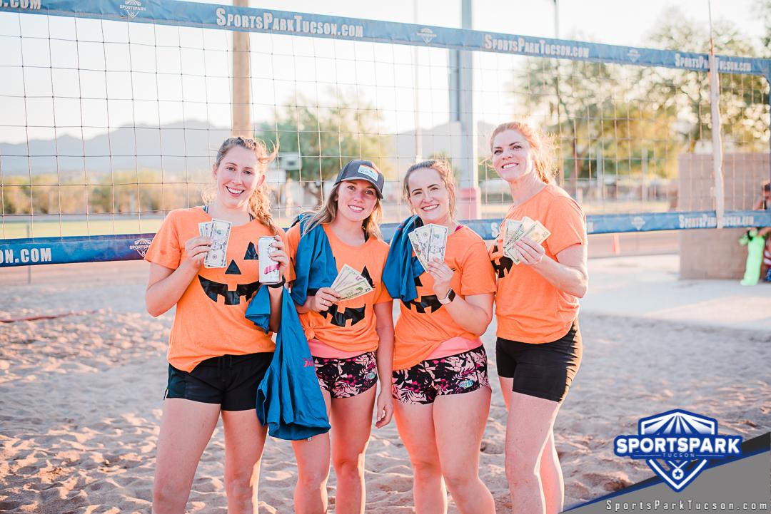 Oct 10th Beach Volleyball Tournament Women's 4v4 - A/B Champions