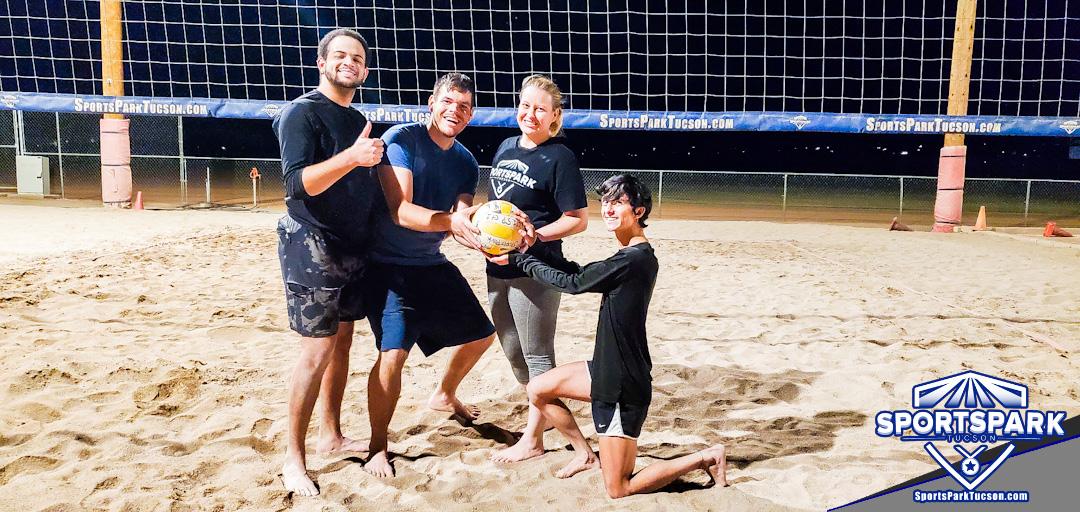 Volleyball Mon Co-ed Lite 4v4 - A/B, Team: Take A Hit!