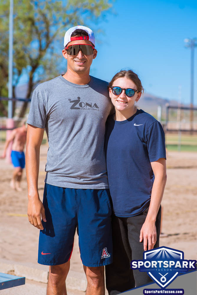 Apr 24th Doubles Sand Volleyball Tournament Co-ed 2v2, Team: Nick/Morgan