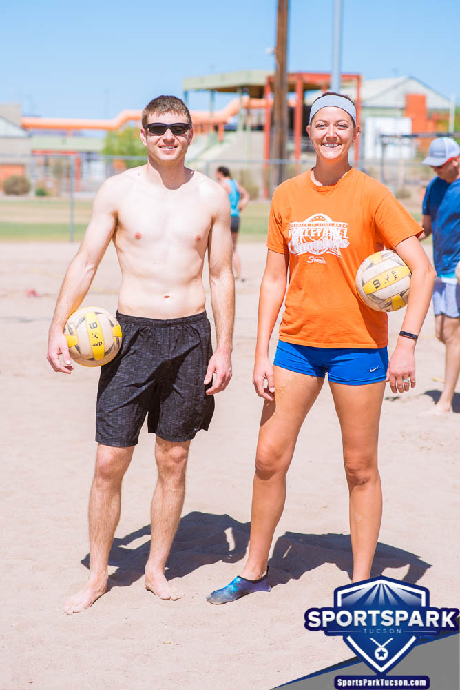 Apr 24th Doubles Sand Volleyball Tournament Co-ed 2v2, Team: Dom/Sally