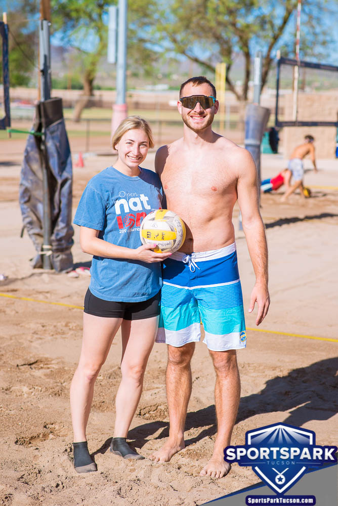 Apr 24th Doubles Sand Volleyball Tournament Co-ed 2v2, Team: Kyle/Kelsey