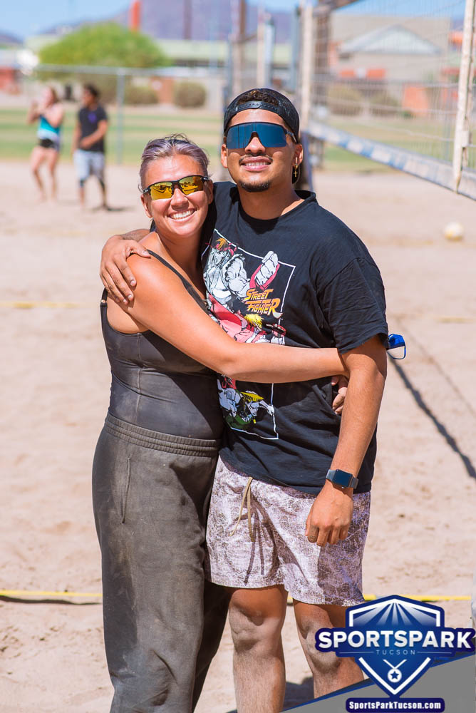 Apr 24th Doubles Sand Volleyball Tournament Co-ed 2v2, Team: Q/Mckenzie