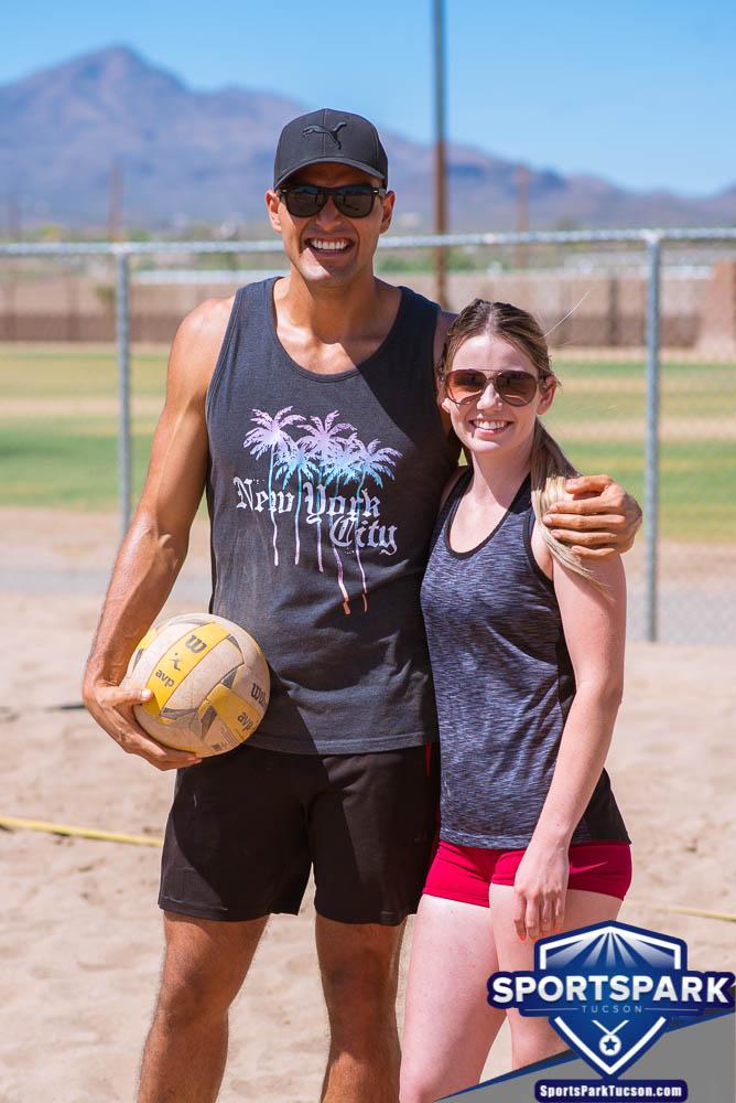 Apr 24th Doubles Sand Volleyball Tournament Co-ed 2v2, Team: Jesus/Nikki
