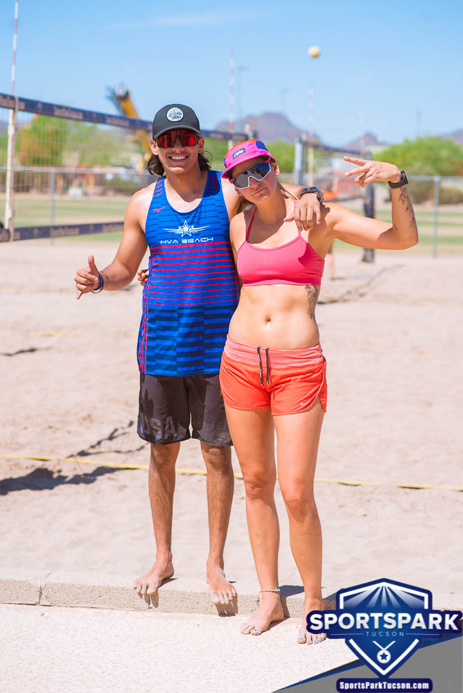 Apr 24th Doubles Sand Volleyball Tournament Co-ed 2v2, Team: Alfonso/Sarah