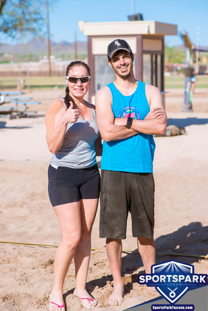 Apr 24th Doubles Sand Volleyball Tournament Co-ed 2v2, Team: Seve/Lourdes