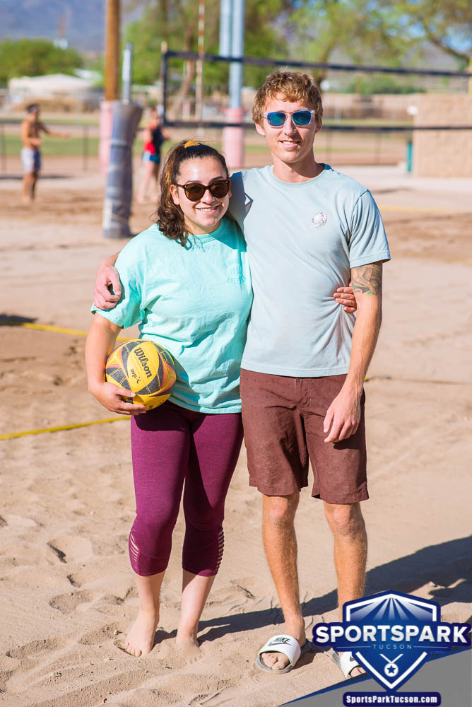 Apr 24th Doubles Sand Volleyball Tournament Co-ed 2v2, Team: Curtis/Rachel