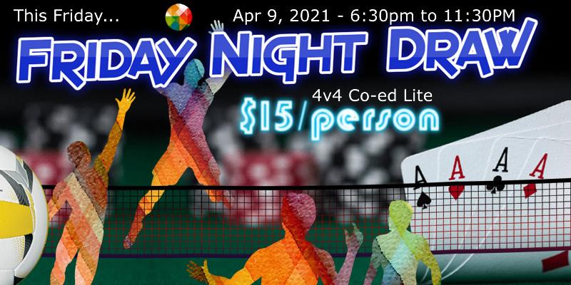 Apr 9th Volleyball Tournament Co-ed Lite 4v4 Draw