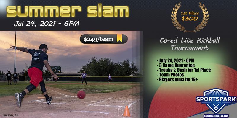 Jul 24th Kickball Tournament Co-ed Lite 10v10