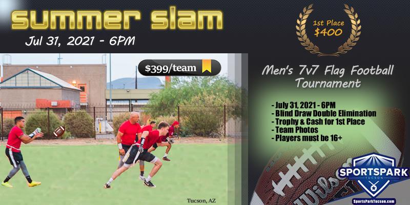 Jul 31st Flag Football Tournament Men's 7v7