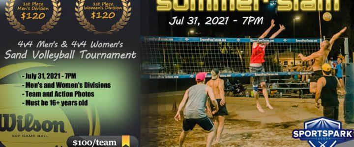 Jul 31st Sand Volleyball Tournament Men's & Women's 4v4