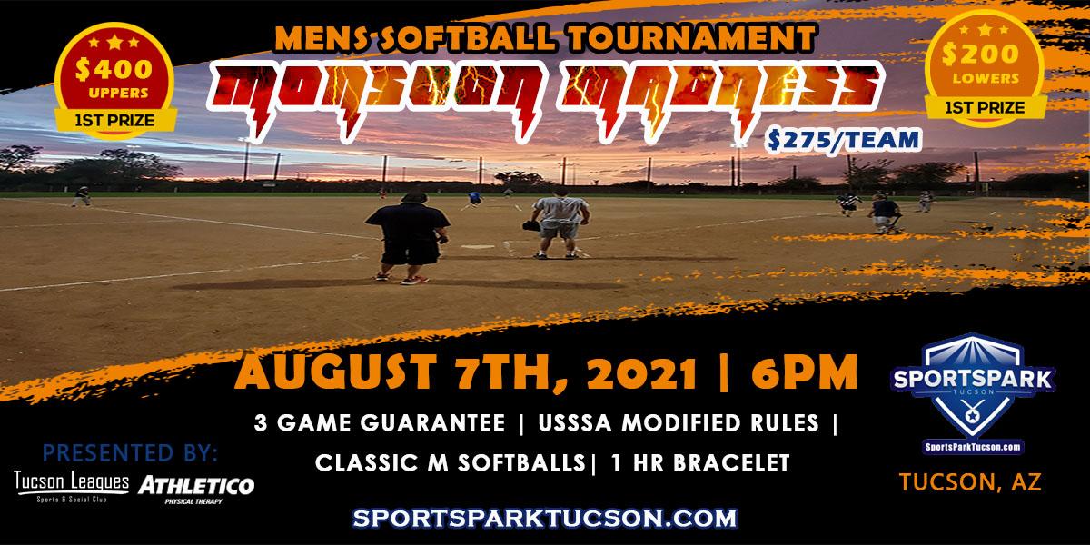 Aug 7th Softball Tournament Men's 10v10 - Upper & Lower