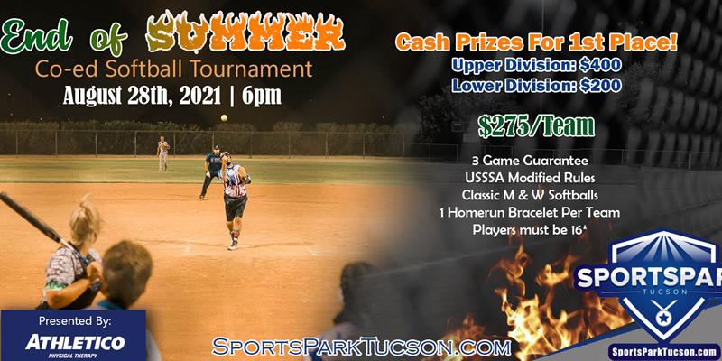 Aug 28th Softball Tournament Co-ed 10v10
